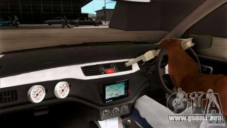Mitsubishi Lancer Evo VII 2F2F para visión interna GTA San Andreas