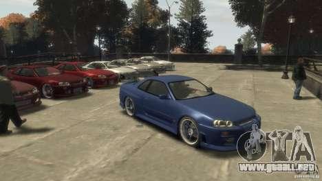 Nissan Skyline R-34 para GTA 4 left