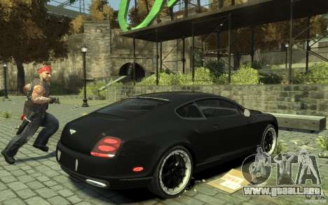 Bentley Continental GT SS para GTA 4 visión correcta