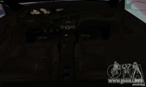 Ford Focus SVT TUNEABLE para GTA San Andreas vista hacia atrás