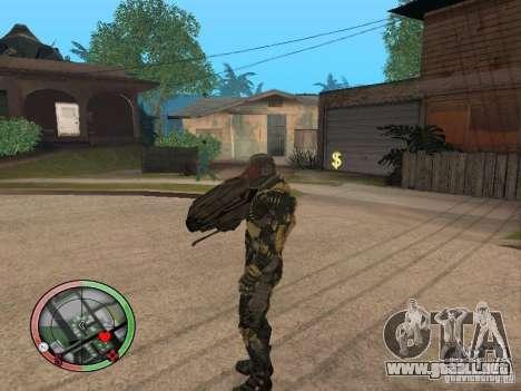 Armas exóticas de Crysis 2 v2 para GTA San Andreas sucesivamente de pantalla