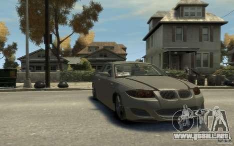 BMW 135i para GTA 4 vista hacia atrás