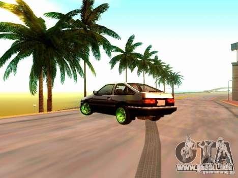 Toyota Corolla Carib AE86 para GTA San Andreas left