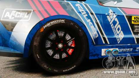 Ford Mustang 2010 GT1 para GTA 4 vista hacia atrás