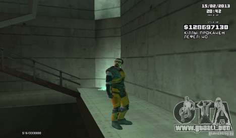 Gordon Freeman para GTA San Andreas segunda pantalla