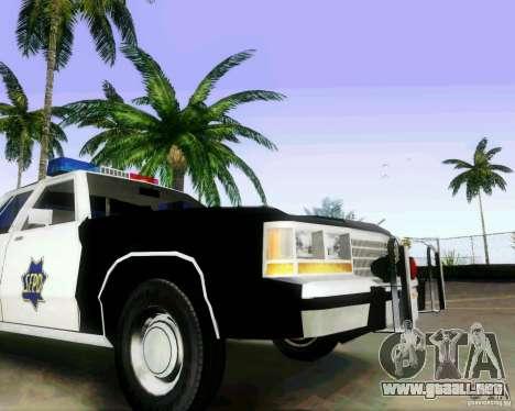Ford Crown Victoria LTD 1991 SFPD para GTA San Andreas vista hacia atrás