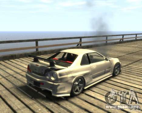 Nissan Skyline GT-R34 Nismo para GTA 4 visión correcta