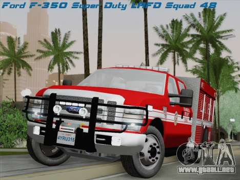 Ford F-350 Super Duty LAFD para GTA San Andreas