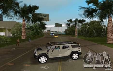 AMG H2 HUMMER para GTA Vice City left