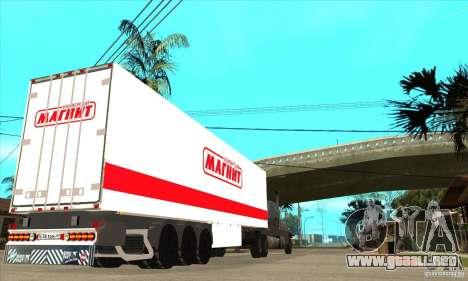 Trailer Magnit para GTA San Andreas vista posterior izquierda