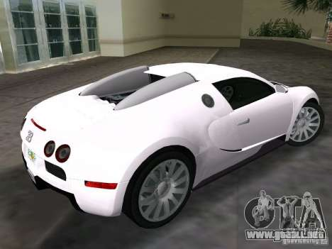 Bugatti Veyron EB 16.4 para GTA Vice City left