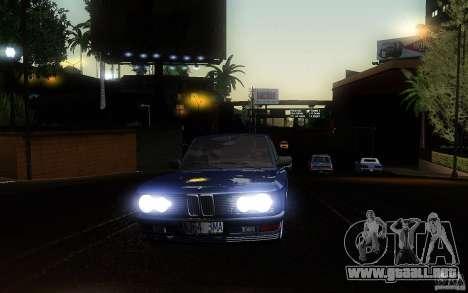 BMW E28 525e ShadowLine Stock para visión interna GTA San Andreas