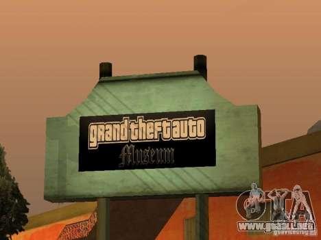 GTA Museum para GTA San Andreas