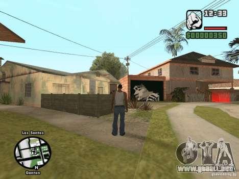 Džonsonov casa nueva para GTA San Andreas tercera pantalla