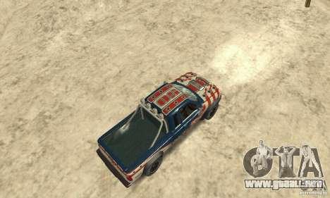 Nevada v1.0 FlatOut 2 para GTA San Andreas vista posterior izquierda