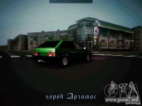 Taxi Vaz 2109 corto-kryloe para la visión correcta GTA San Andreas