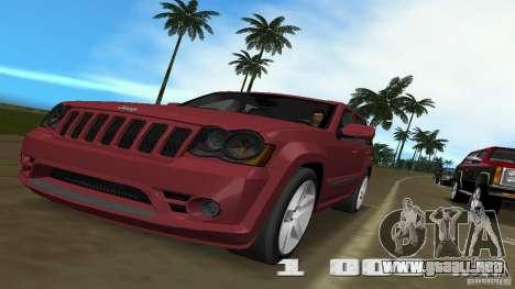 Jeep Grand Cherokee para GTA Vice City vista posterior