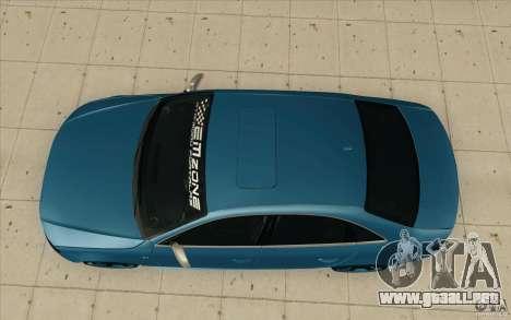 Audi S4 2009 para la visión correcta GTA San Andreas