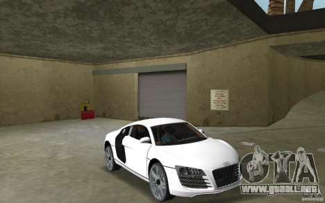 Audi R8 Le Mans para GTA Vice City vista posterior
