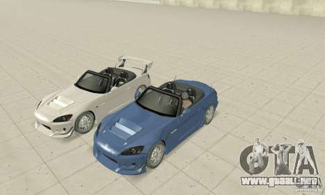 Honda S2000 Cabrio West Tuning para vista lateral GTA San Andreas