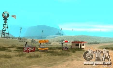 Área en el desierto para GTA San Andreas segunda pantalla