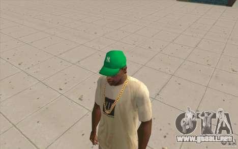 Newyorkyankiys tapa verde para GTA San Andreas