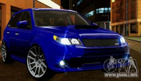 Subaru Forester RRT sport 2008 para la vista superior GTA San Andreas