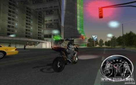 Ducati 1098R para GTA San Andreas vista posterior izquierda