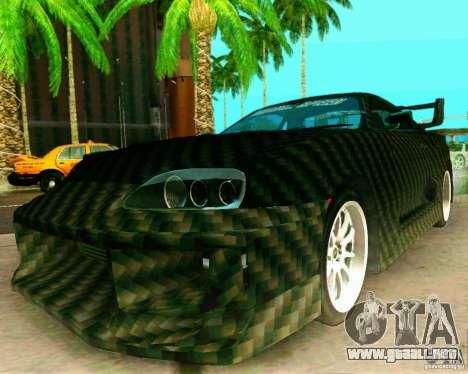 Toyota Supra Carbon para la visión correcta GTA San Andreas