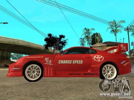 Toyota Supra Chargespeed para GTA San Andreas left