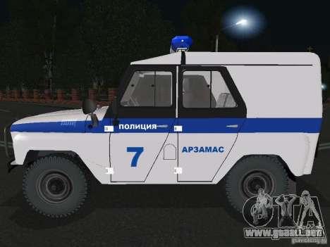 Policía UAZ-31512 para GTA San Andreas left