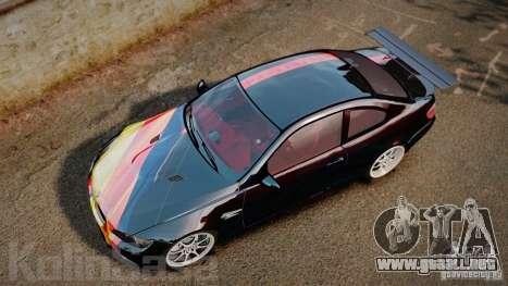 BMW E92 M3 Threep Edition para GTA 4 visión correcta