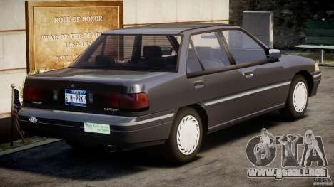 Mercury Tracer 1993 v1.0 para GTA 4 vista superior
