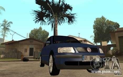 VW Passat B5 1.8T para GTA San Andreas vista hacia atrás