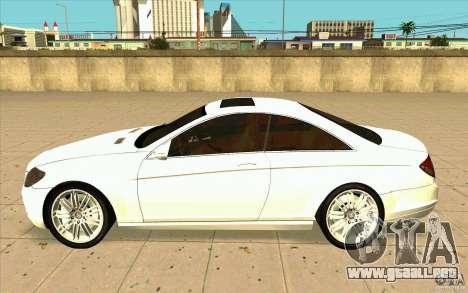 Mercedes Benz CL 500 para GTA San Andreas left