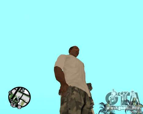 Manos normales CJâ para GTA San Andreas sucesivamente de pantalla