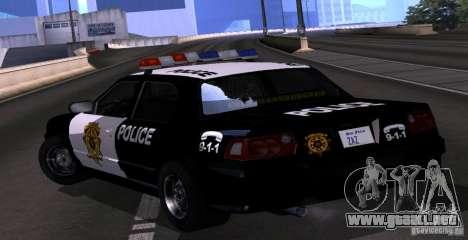 NFS Undercover Police Car para GTA San Andreas left