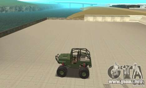 Jeep Willys Rock Crawler para GTA San Andreas vista hacia atrás
