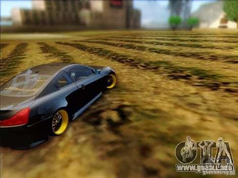 Infiniti G37 HellaFlush para la visión correcta GTA San Andreas