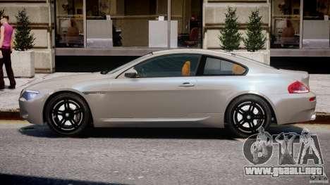BMW M6 G-Power Hurricane para GTA 4 Vista posterior izquierda