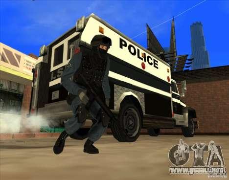 Los Angeles S.W.A.T. Skin para GTA San Andreas sucesivamente de pantalla