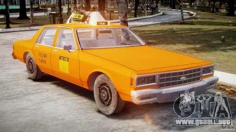 Chevrolet Impala Taxi v2.0 para GTA 4 vista interior