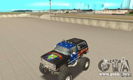Chevrolet Blazer K5 Monster Skin 3 para GTA San Andreas left