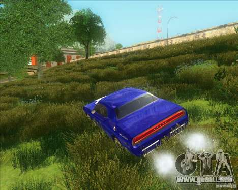Dodge Challenger concept para GTA San Andreas vista posterior izquierda