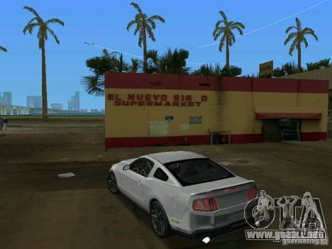 Ford Shelby GT500 para GTA Vice City vista lateral izquierdo