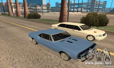 Chevrolet Camaro SS 1967 para la vista superior GTA San Andreas