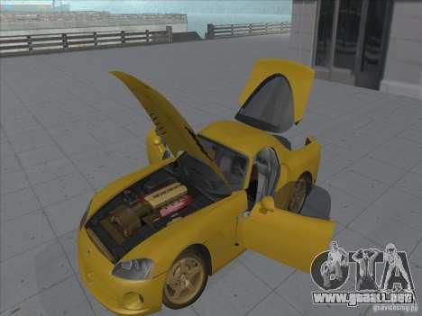 Dodge Viper SRT-10 (víbora de oro) para la visión correcta GTA San Andreas
