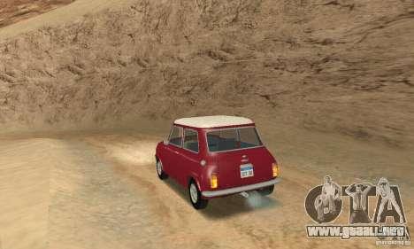 Mini Cooper S para GTA San Andreas left
