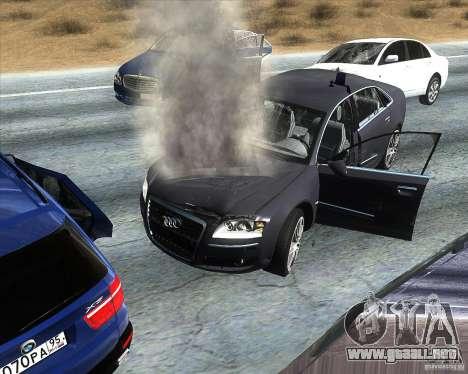 Audi A8L W12 para la visión correcta GTA San Andreas