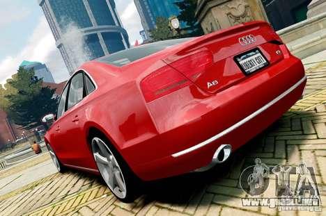 Audi A8 2010 V8 FSI para GTA 4 visión correcta